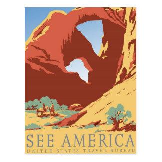 Voir le cru de l Amérique Carte Postale