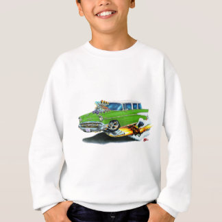 Voiture 1957 de vert de nomade de Chevy Sweatshirt