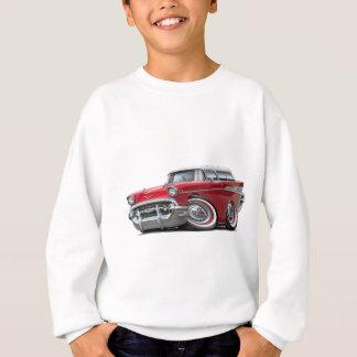 Voiture 1957 Rouge-Blanche de nomade de Chevy Sweatshirt