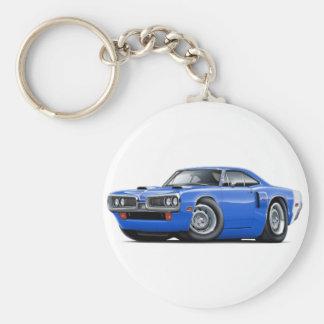 Voiture 1970 Bleu-Blanche de Coronet droite Porte-clés