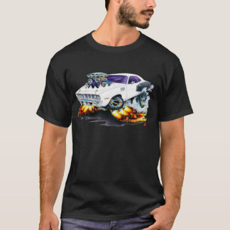 Voiture 1971 de blanc de Hemi Cuda T-shirt