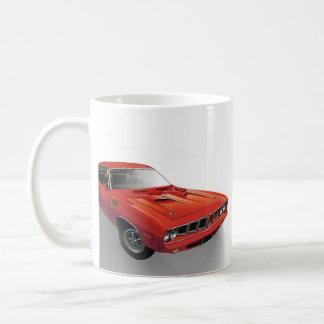 Voiture américaine rouge de muscle mug
