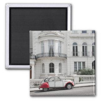 Voiture ancienne dans l'aimant de Notting Hill : Magnet Carré