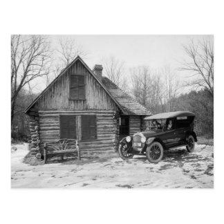 Voiture ancienne en parc de Rock Creek, les années Carte Postale