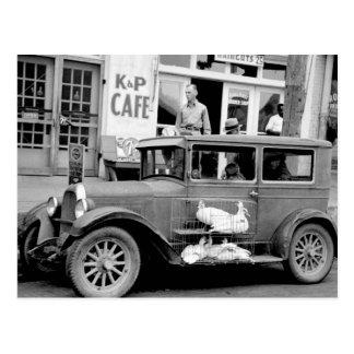 Voiture ancienne, les années 1930 cartes postales