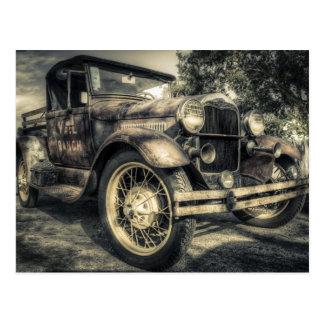 Voiture ancienne, vieille voiture carte postale