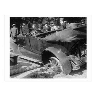 Voiture ancienne Wreck, 1918 Carte Postale