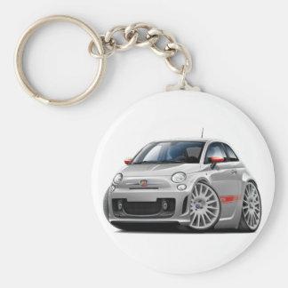 Voiture de gris de Fiat 500 Abarth Porte-clé Rond