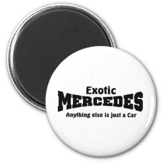 Voiture de Mercedes Magnet Rond 8 Cm