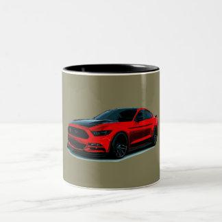 Voiture de muscle mug bicolore
