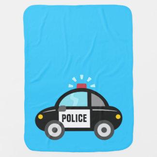 Voiture de police mignonne avec la sirène couverture pour bébé
