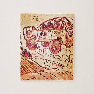 voiture de rassemblement pilotant haut ver2 puzzle