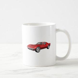 Voiture de sport 1970 de Corvette : Finition rouge Mug Blanc