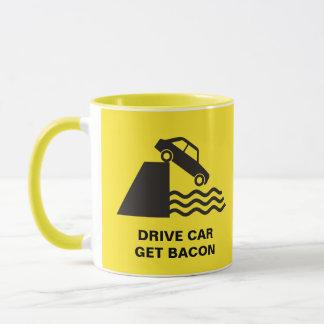 Voiture d'entraînement - obtenez le lard mug