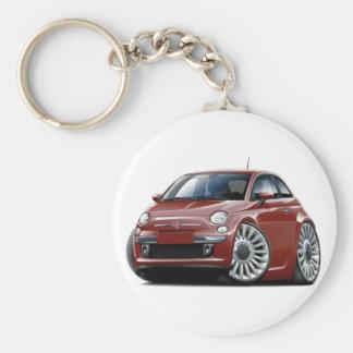 Voiture marron de Fiat 500 Porte-clés