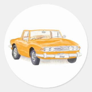 Voiture vintage, autocollant de mâle de Triumph,