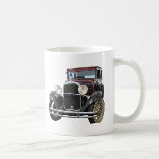 voiture vintage mug blanc