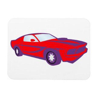 Voiture voiture sportive de sport car plus roadste magnet en rectangle