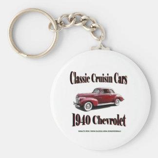Voitures classiques de Cruisin Chevrolet 1940 Porte-clé Rond