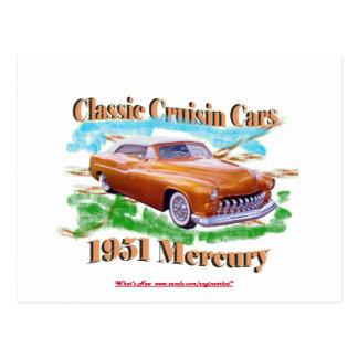 Voitures classiques de Cruisin Mercury 1951 Carte Postale
