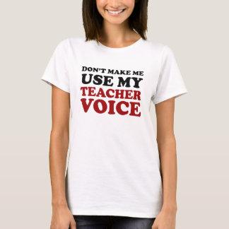 Voix drôle rouge et noire de professeur t-shirt