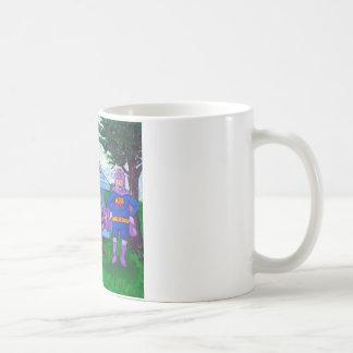 Vol de raton laveur mug blanc