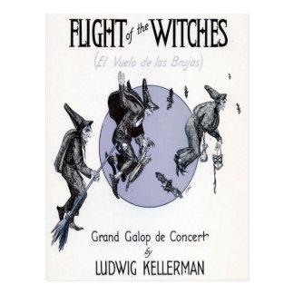 Vol des sorcières carte postale