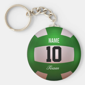 Volleyball Forest Green de personnaliser Porte-clé Rond