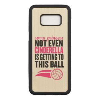 Volleyball : Princesse désolée Ball Coque En Bois Samsung Galaxy S8
