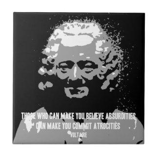Voltaire - Absurditeiten Tegeltje
