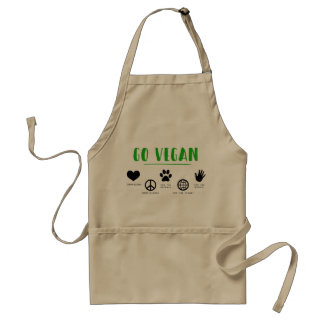 Vont le végétalien, tablier standard