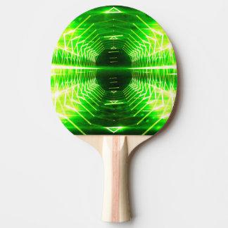 Vortex rougeoyant graphique moderne - raquette tennis de table