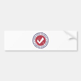 vos comptes de vote autocollant de voiture