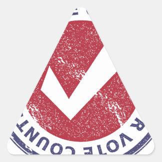 vos comptes de vote sticker triangulaire
