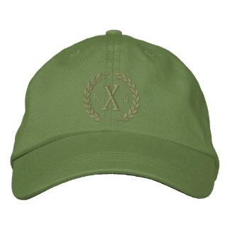 Vos lettres du monogramme 3 et broderie de chapeau brodé