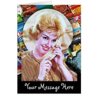 Vos mots avec Madame du téléphone 60s Carte