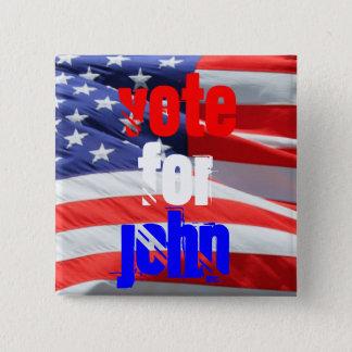 Vote pour John Kasich, élections présidentielles Badge Carré 5 Cm