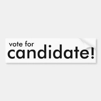 vote pour le candidat ! autocollant générique