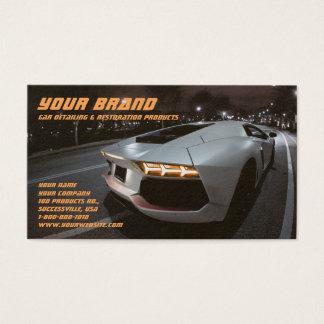 Votre carte de visite blanc de voiture de marque