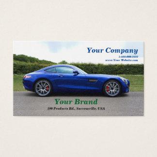 Votre carte de visite bleu de voiture de marque