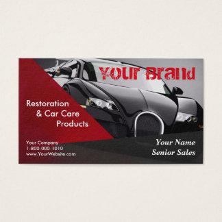 Votre carte de visite de voiture de noir de marque