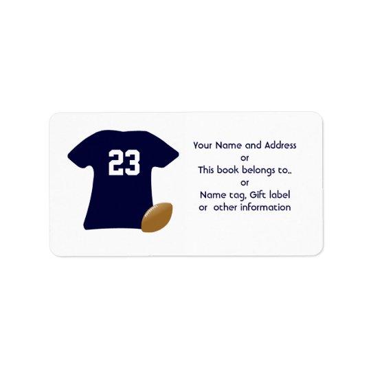 Votre chemise du football avec des étiquettes de