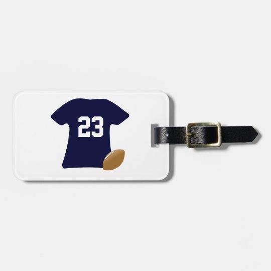 Votre chemise du football avec la boule étiquette pour bagages