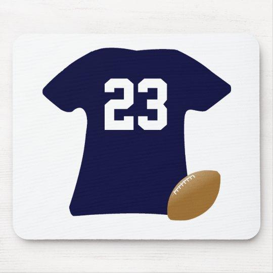 Votre chemise du football avec la boule tapis de souris