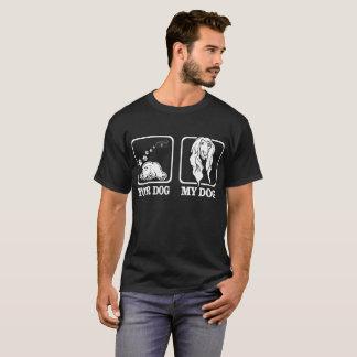 Votre chien mon T-shirt drôle de lévrier afghan de
