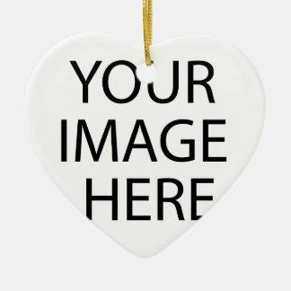 Votre image ici ornement cœur en céramique
