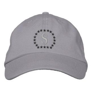 Votre lettre simple de casquette de monogramme chapeaux brodés
