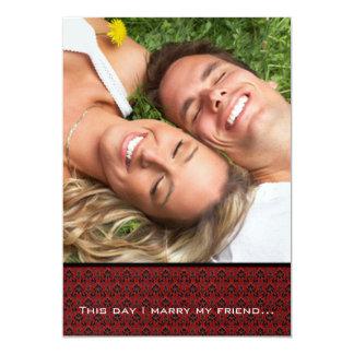 Votre mariage de photo m'invitent marient mon carton d'invitation  12,7 cm x 17,78 cm