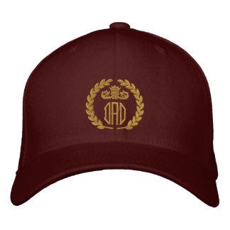 Votre monogramme jusqu'à la broderie de 3 lauriers chapeaux brodés