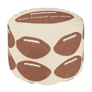 Votre texte, pouf orienté de sports des football